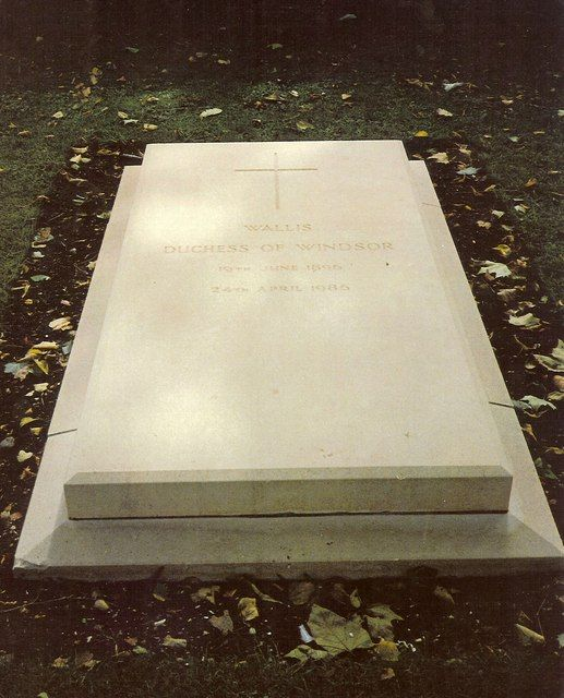 Grave Marker Of The Duchess Of Windsor At Frogmore Burial