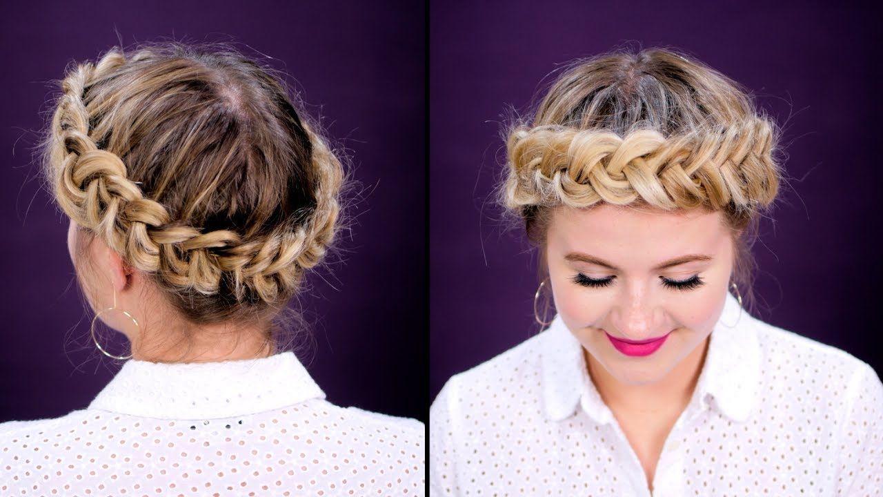 How to halocrown dutch braid short hair tutorial box braid hair