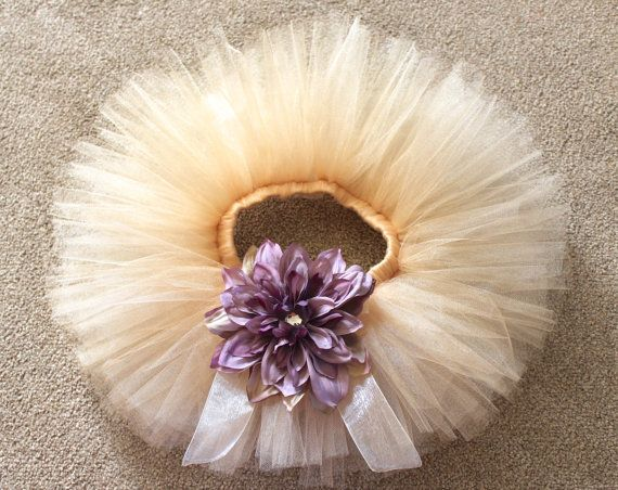 Infant Gold Tutu with Lavender Flower. Tutu for Baby Girls. 1st Birthday Tutu. Flower Girl Tutu. Lavender Peony Flower. Gold and Purple Tutu on Etsy, $32.99