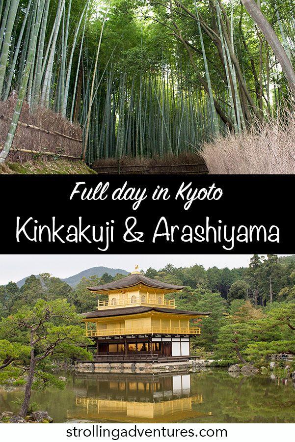 Full day in Kyoto visiting Kinkakuji and Arashiyama. #kyoto #goldenpavilion #arashiyama #kyototravel #japantravel #familytravel