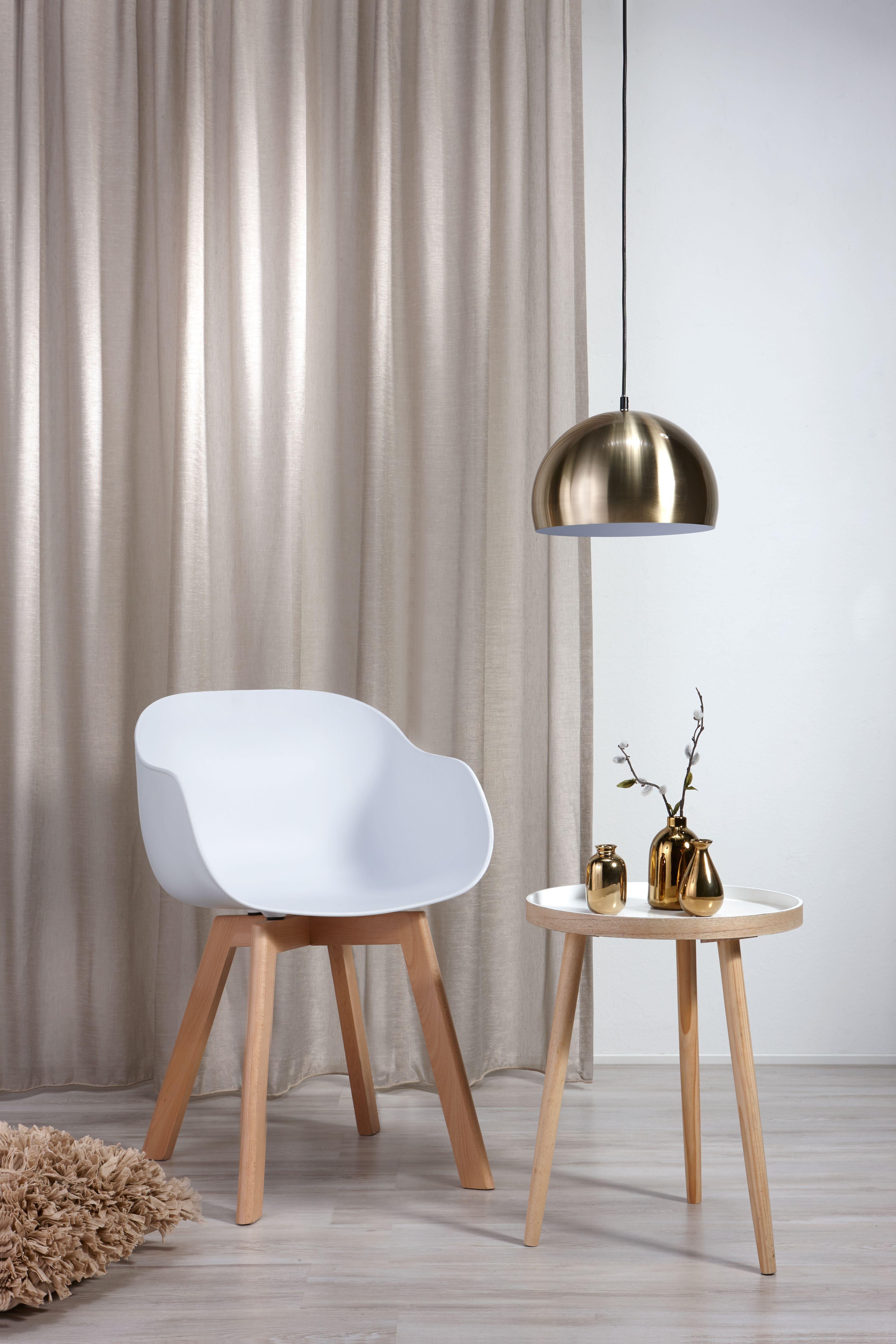Kuipstoel new york wit goud modern en hout - Interieur decoratie modern hout ...