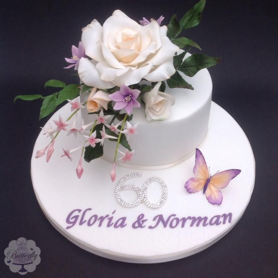 Diamond Wedding Anniversary - Cake by Butterfly Cakes and Bakes ...