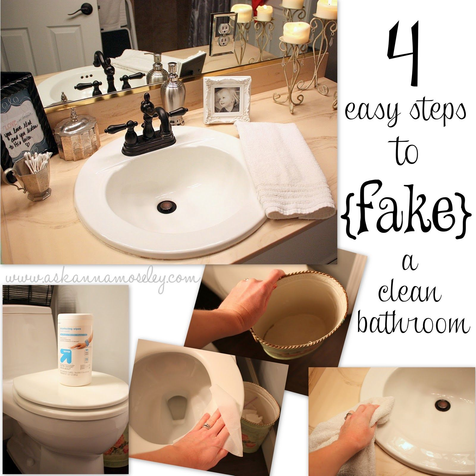 How To {fake} A Clean Bathroom   Quick Cleaning Tips From Ask Anna!