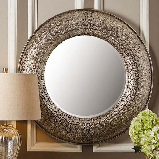 Round Wall Mirrors Uk Elegant And Luxurious Silver Leaf Round Mirror Wall Living Room Mirror Wall Wall Mirrors Uk
