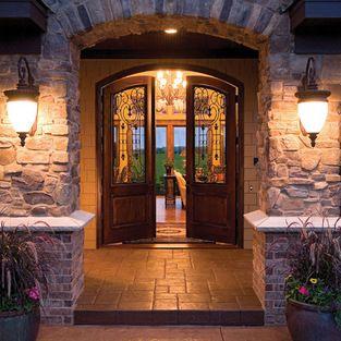 luxury front doorsFront Door Entry  Lighting Fixtures  9 Foot Ceilings Design