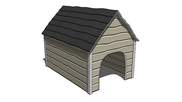 """Cartoon Dog House"" is a SketchUp model created by Michael Island. You can download it for free at Michael-Island.com..."