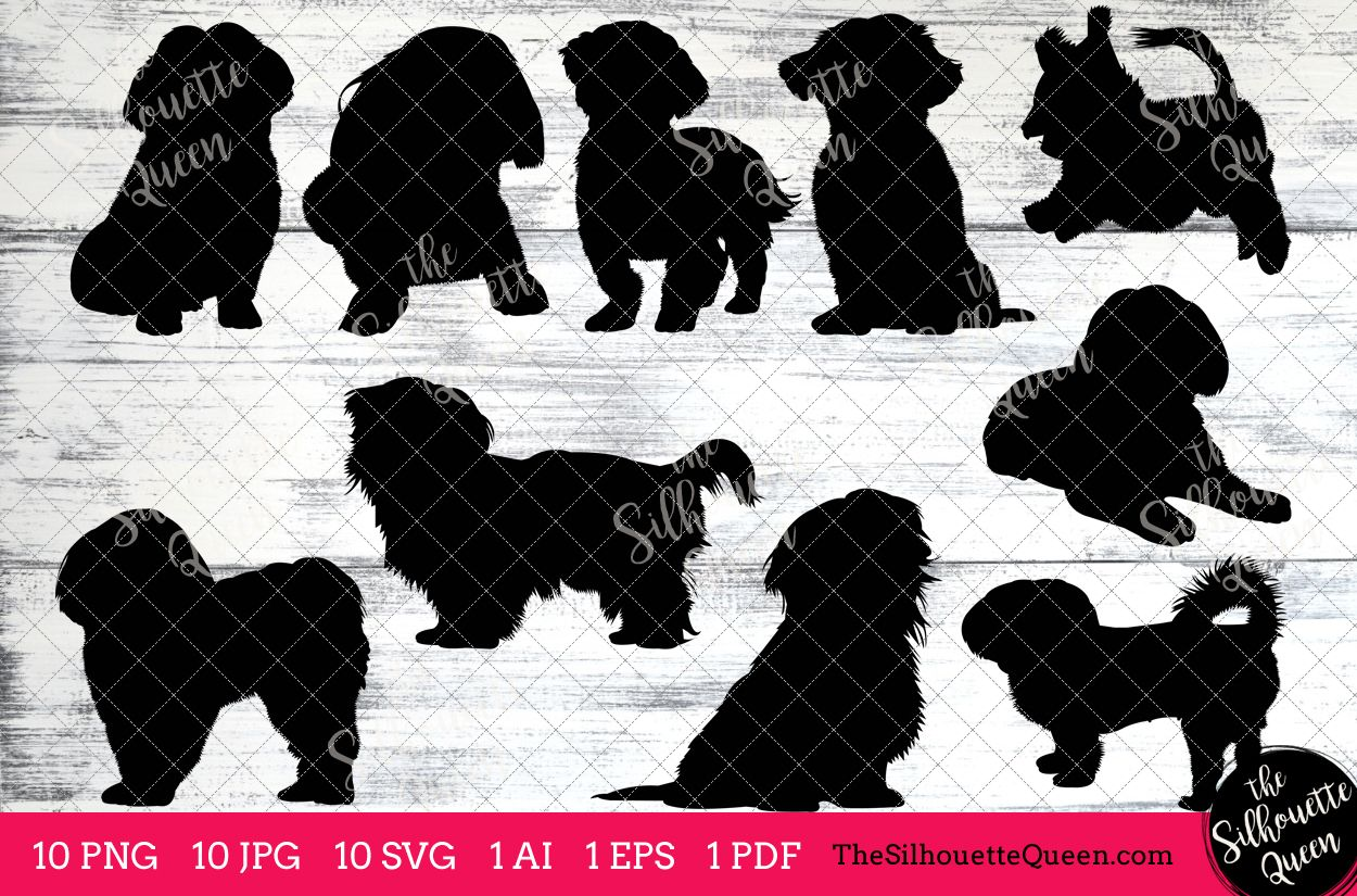 Shih Tzu Dog Silhouette Clipart Clip Art Ai Eps Svgs Jpgs Pngs Pdf Shih Tzu Clipart Vectors Commercial And Personal Use 78176 Illustrations Des Dog Silhouette Shih Tzu Silhouette Vector