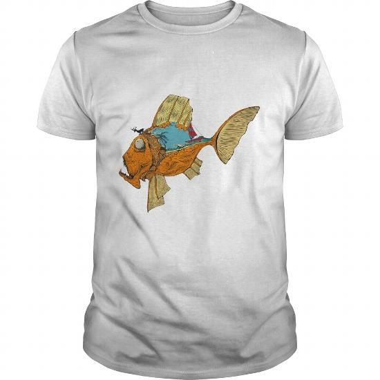 Awesome Tee Monster fish art T-Shirts