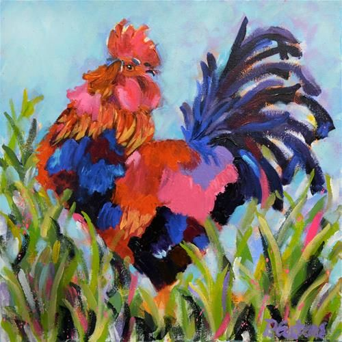 "Daily Paintworks - ""Farm Boy"" - Original Fine Art for Sale - © Pamela Gatens"