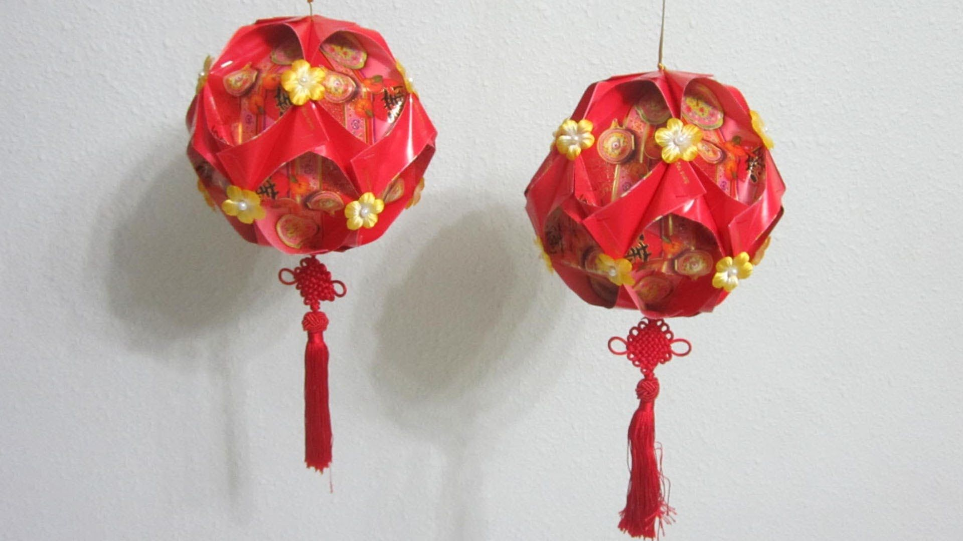 This simple and yet elegant Lunar New Year decorative ball ...