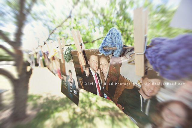 Clothesline pictures for #wedding