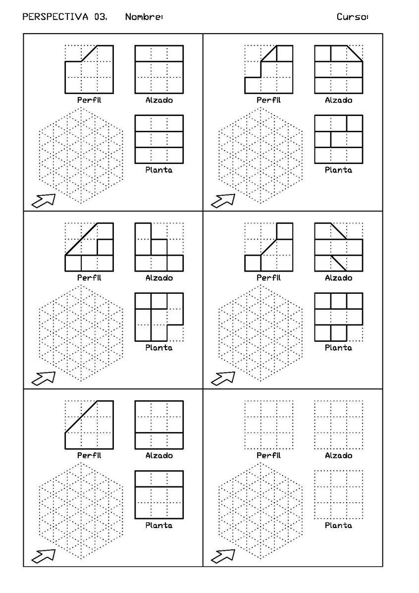 Archivo Vistas Izq 03 Pdf Dibujo Perspectiva Ejercicios De Dibujo Tecnicas De Dibujo