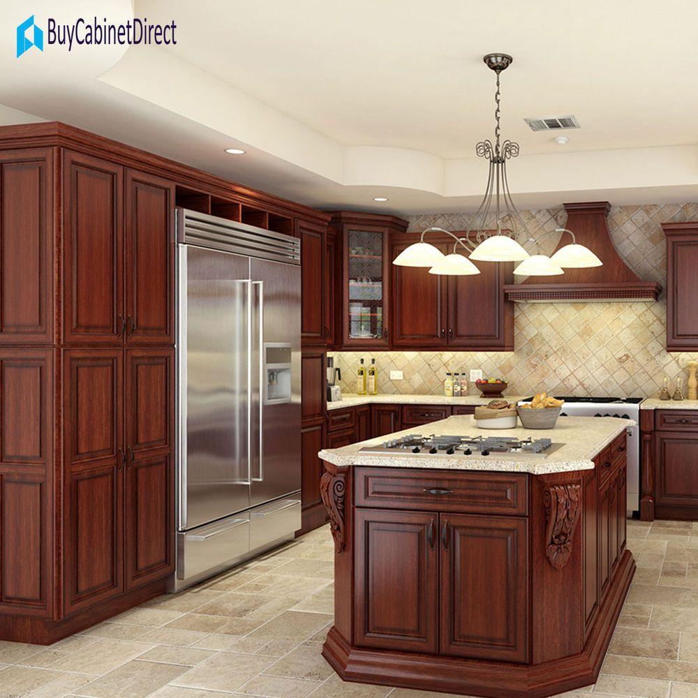 Best All Maple Wood Rta 10X10 Kitchen Cabinets Cherry Antique 400 x 300