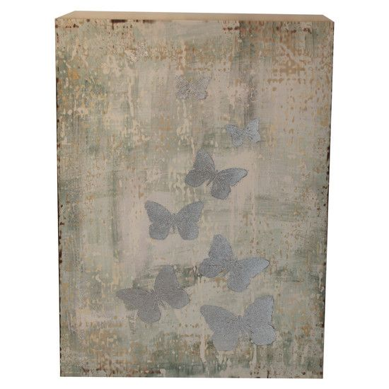 Duck Egg Days Collection Butterfly Canvas | Dunelm Mill
