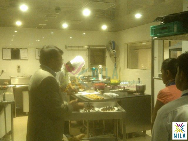 Students experiencing the working's of an industrial kitchen #NILA @NilaGurgaon