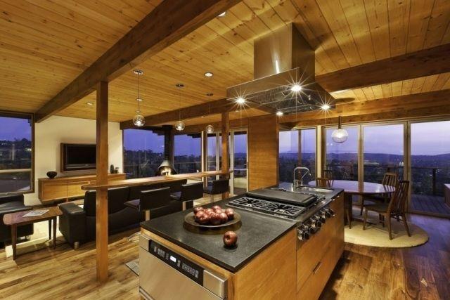 Plafond design 90 idées merveilleuses pour votre intérieur! - pose d une hotte decorative