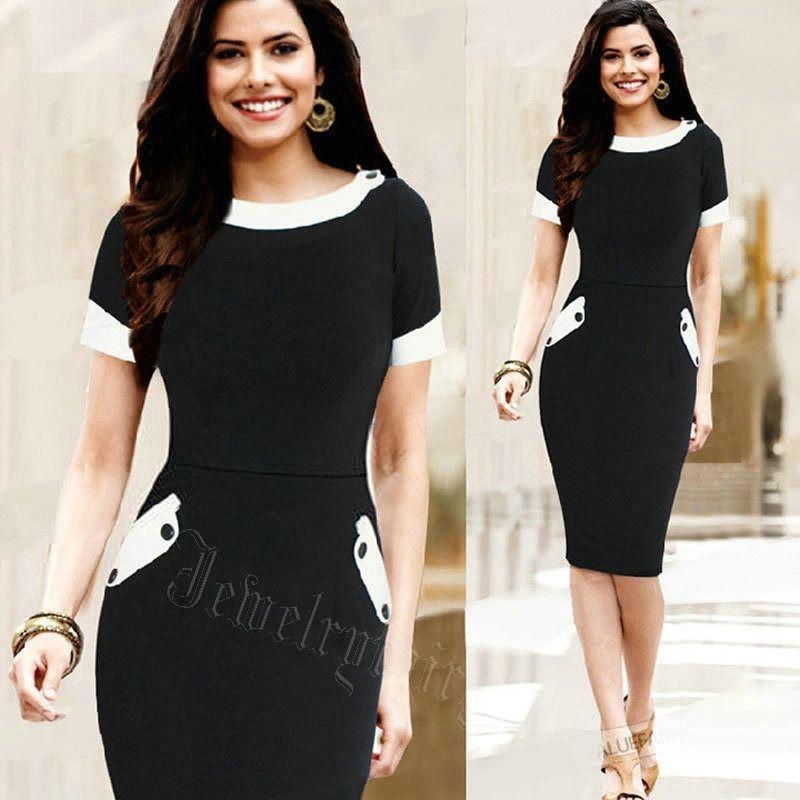 35c1f268e5b55 Details about Summer Dress Women Vintage Print Clothing Sheath ...