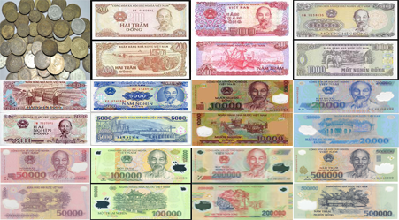 Here Is The Vnd Set Of Banknotes That Curly Legally In Use Real Transaction Coins 200 500 1000 2000 5000 Due To Their Inconvenience