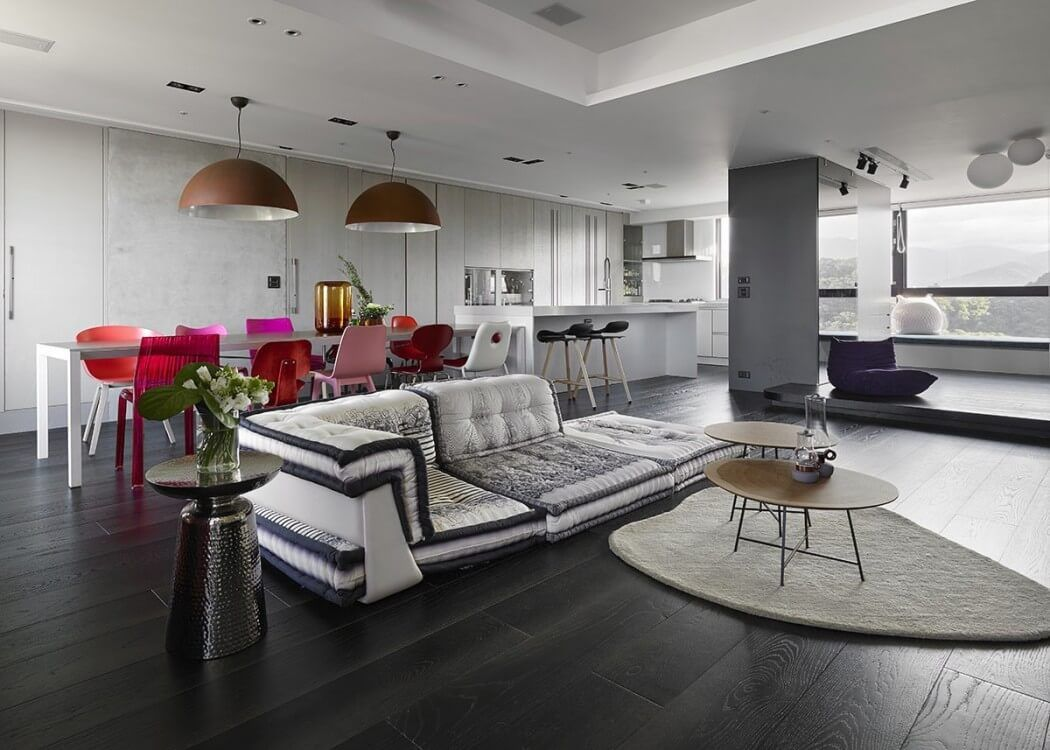Ganna design | Living room in eclectic boutique hotel style | Living ...