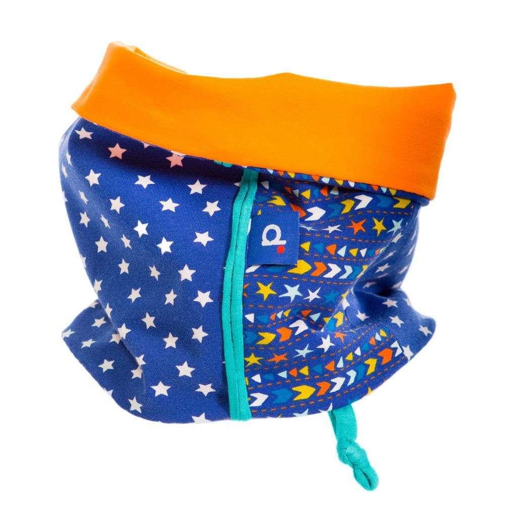 Snood en jersey bleu étoiles et orange enfant de 2 à 5 ans, €20.99