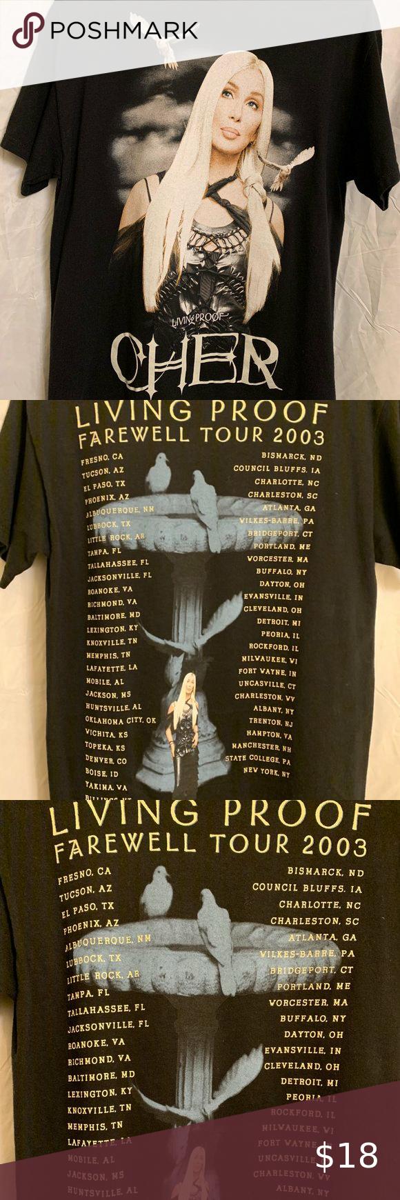 Vintage Cher Living Proof Farewell Tour T Shirt Tour T Shirts Vintage Clothes Design