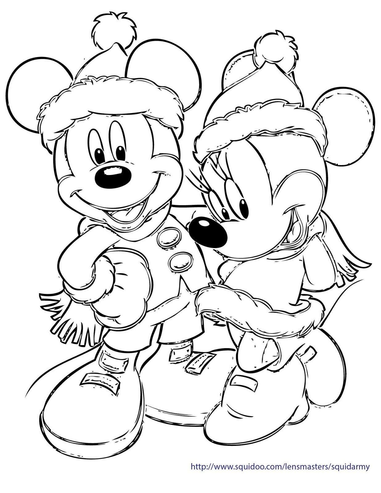 Mickey And Minnie Coloring Pages Mickey Minnie Christmas Coloring