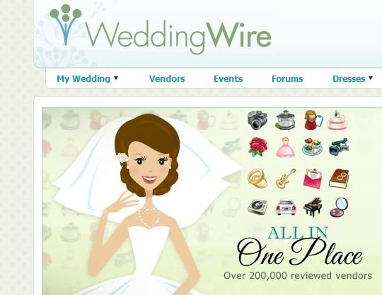 One of my favourite websites is The Wedding Wire