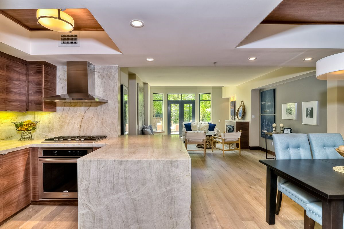 Beautifully Remodeled Townhome At CityFront Terrace In Downtown San Diego  With Taj Mahal Quartzite, Walnut