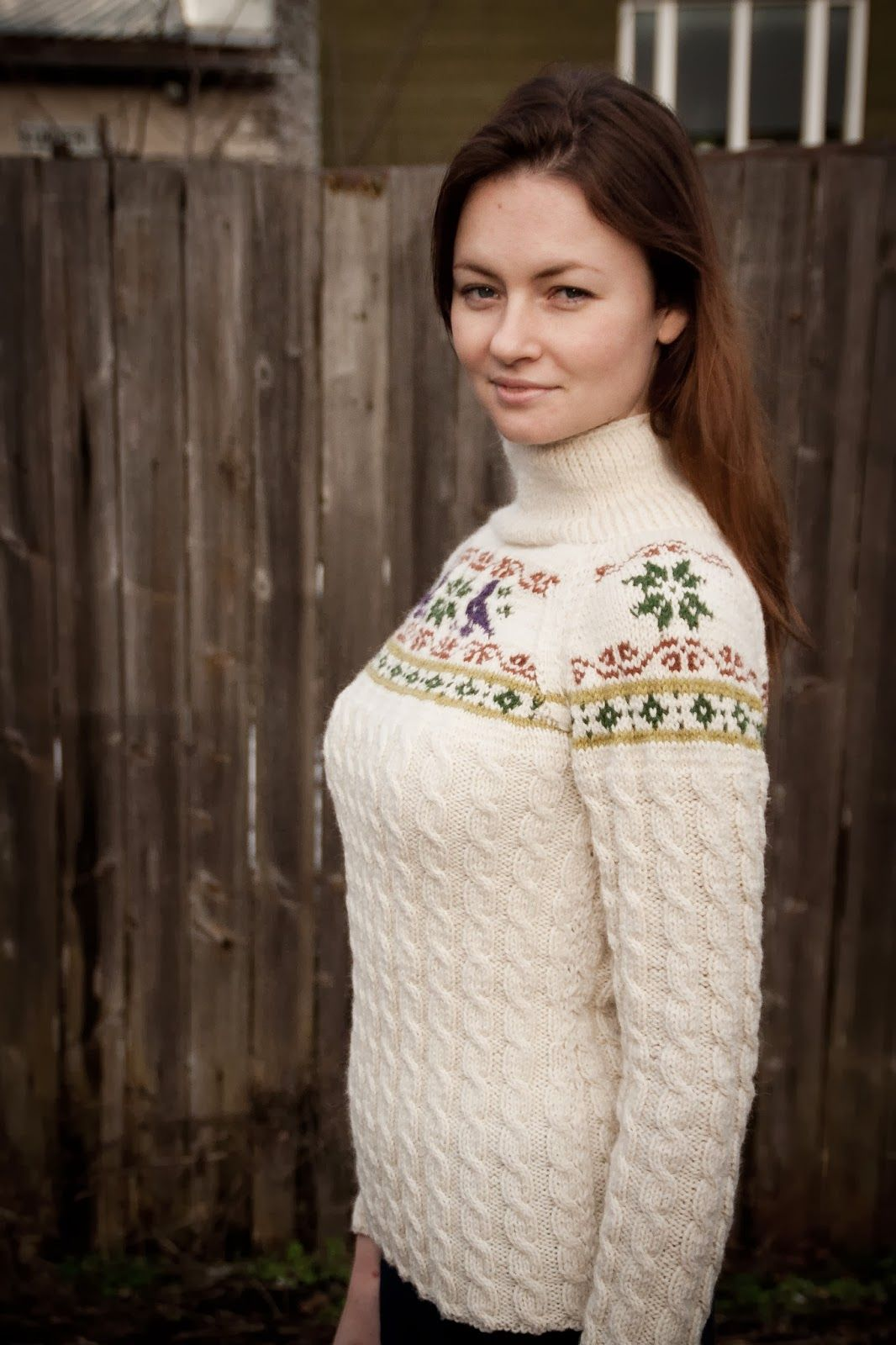 Knitted skiing sweater