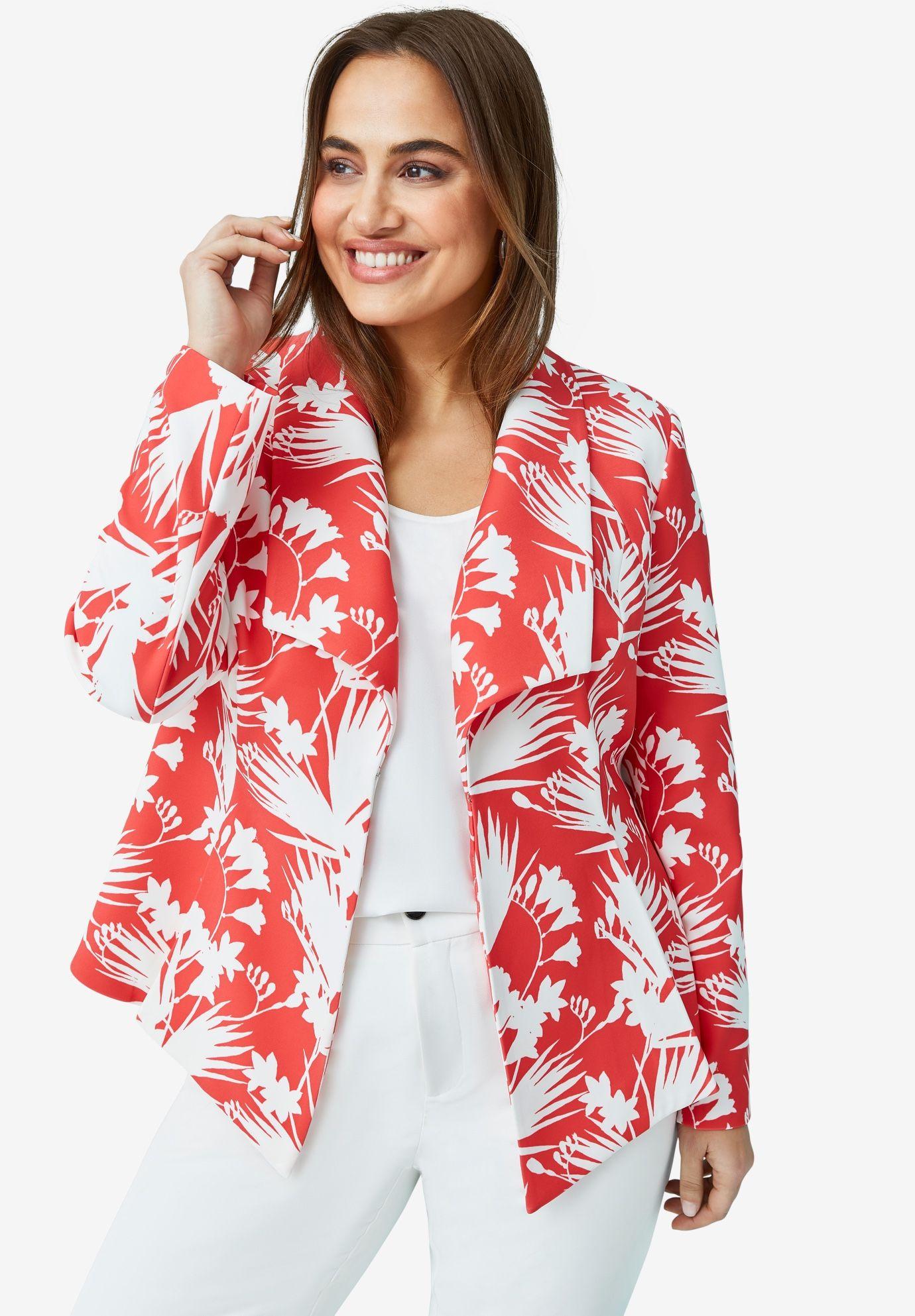 Drape front blazer plus size blazers jessica london in