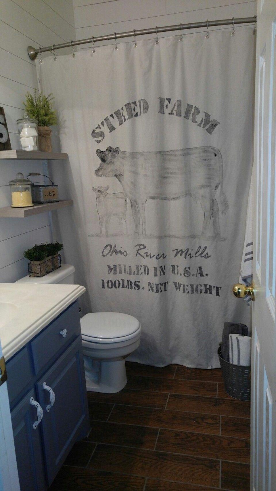 modern farmhouse style shower curtain