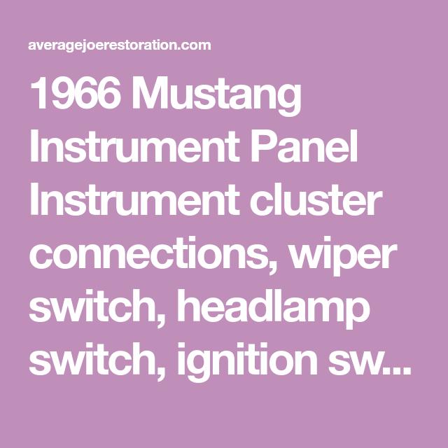 1966 Mustang Wiring Diagrams Mustang Headlamp Instrument Cluster