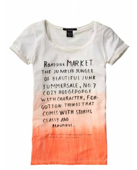 Tee with prints - T-shirts & Tops - Official Scotch & Soda Online Fashion & Apparel Shops