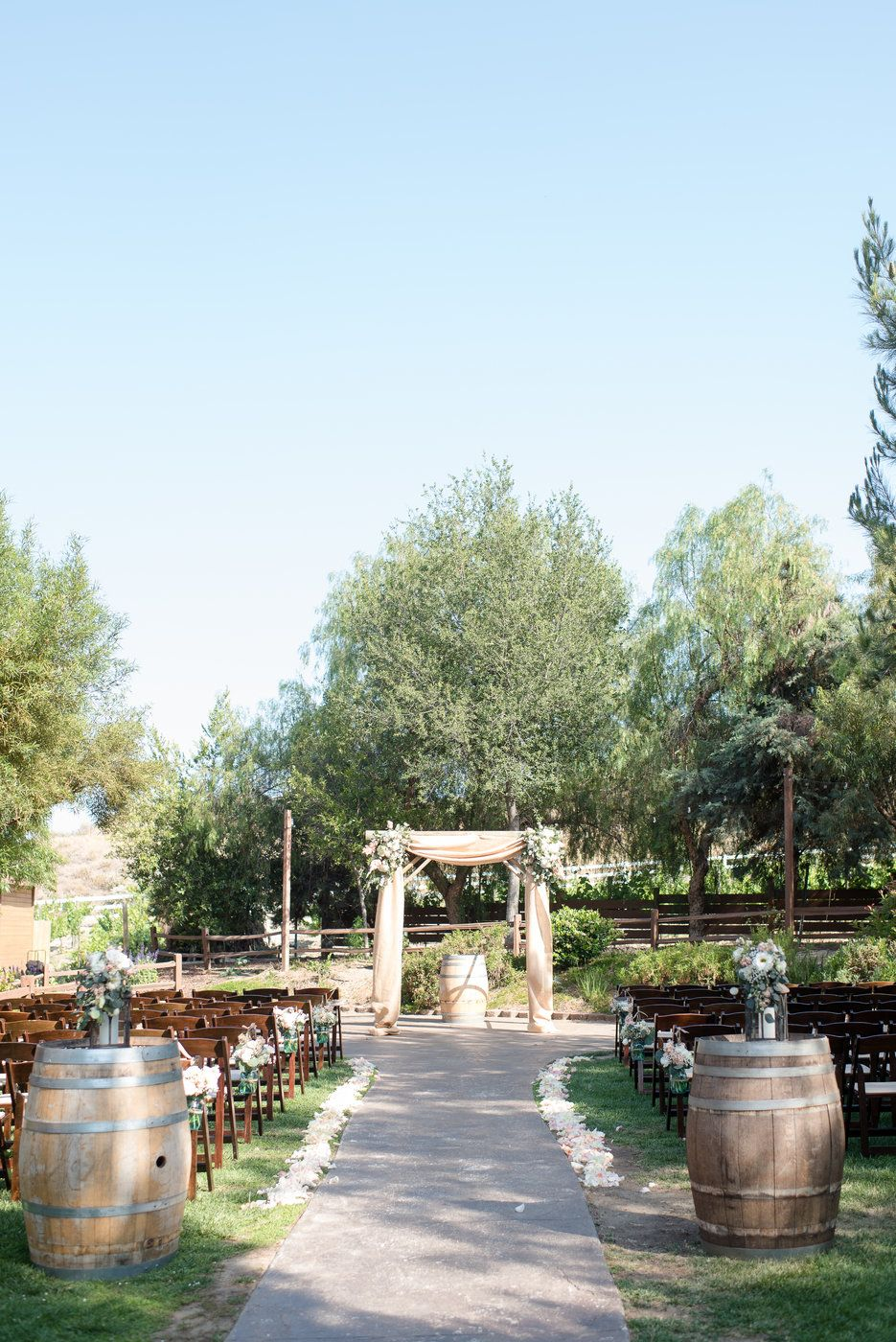 Ceremony site Country themed southern California wedding