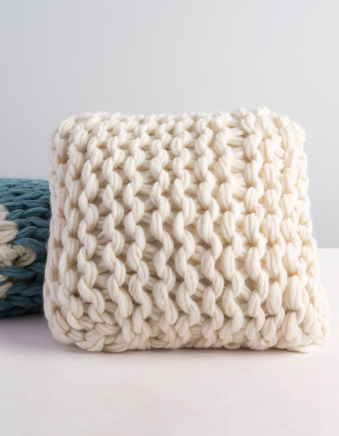Arm Knit Throw Pillow Video Class   Tejido