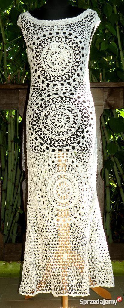 c4dabdf6b9 Śliczna sukienka z cieniutkiej bawełny na szydeł Toruń