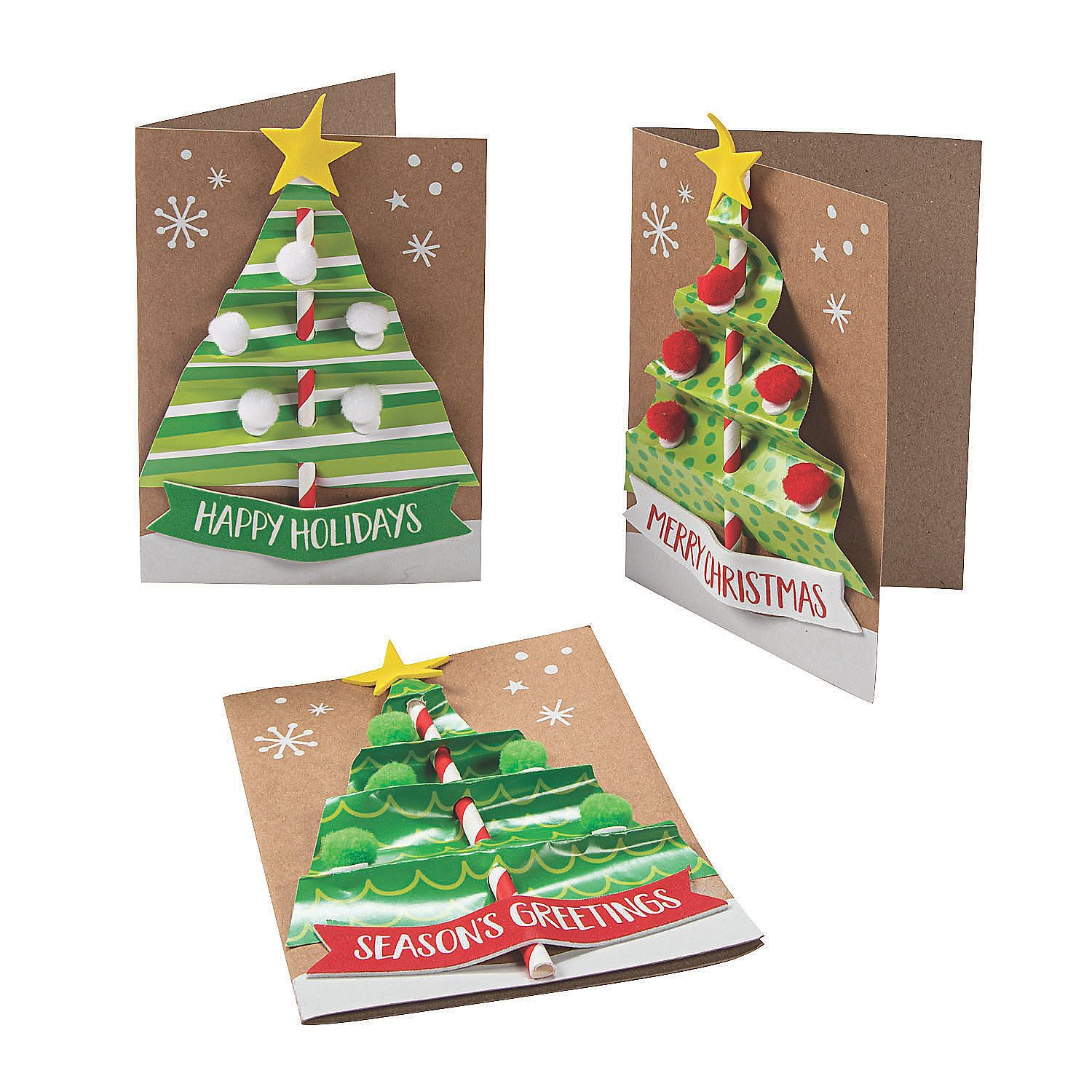 Christmas Tree Card Craft Kit Oriental Trading In 2020 Card Craft Kits Xmas Card Craft Christmas Tree Cards