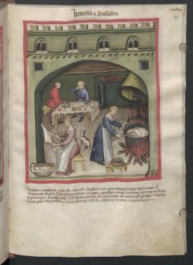 Cod. Ser. n. 2644, fol. 81r: Tacuinum sanitatis: Intesta id est busecha