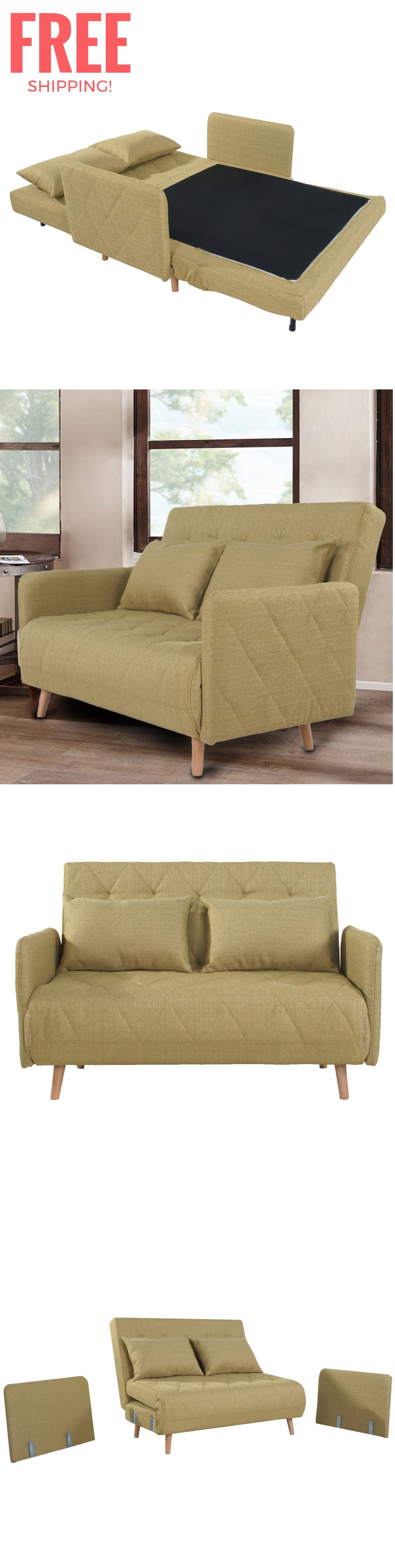 Futons Frames And Covers 131579 Convertible Futon Loveseat Sleeper Couch Bed Sofa Mattress Chair Wood