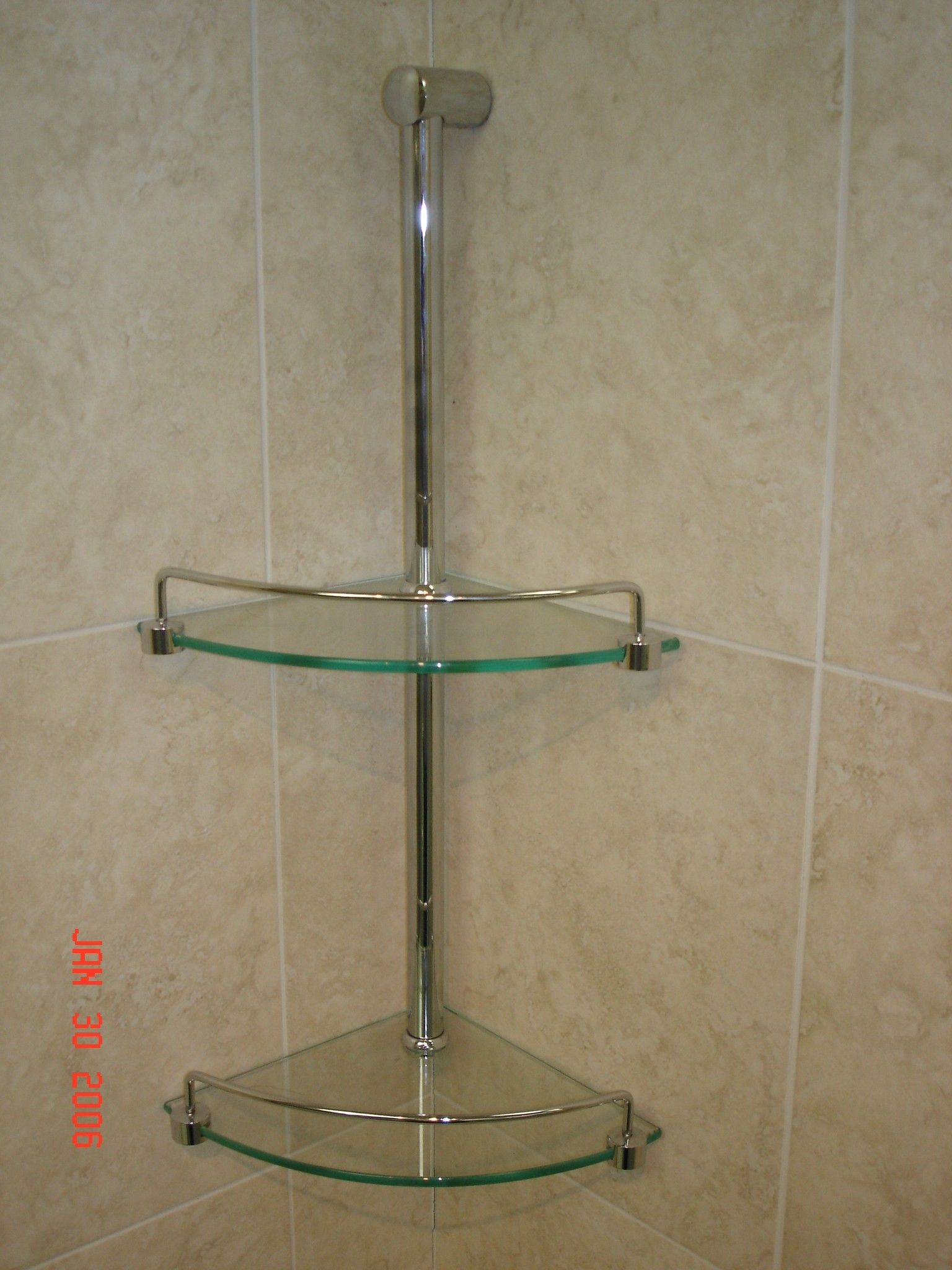 Shower shelves google search flooring and tile - Bathroom glass corner shelves shower ...