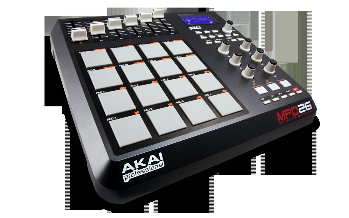 Akai Professional MPD26 USB/Midi Pad Controller MPC technologies ...