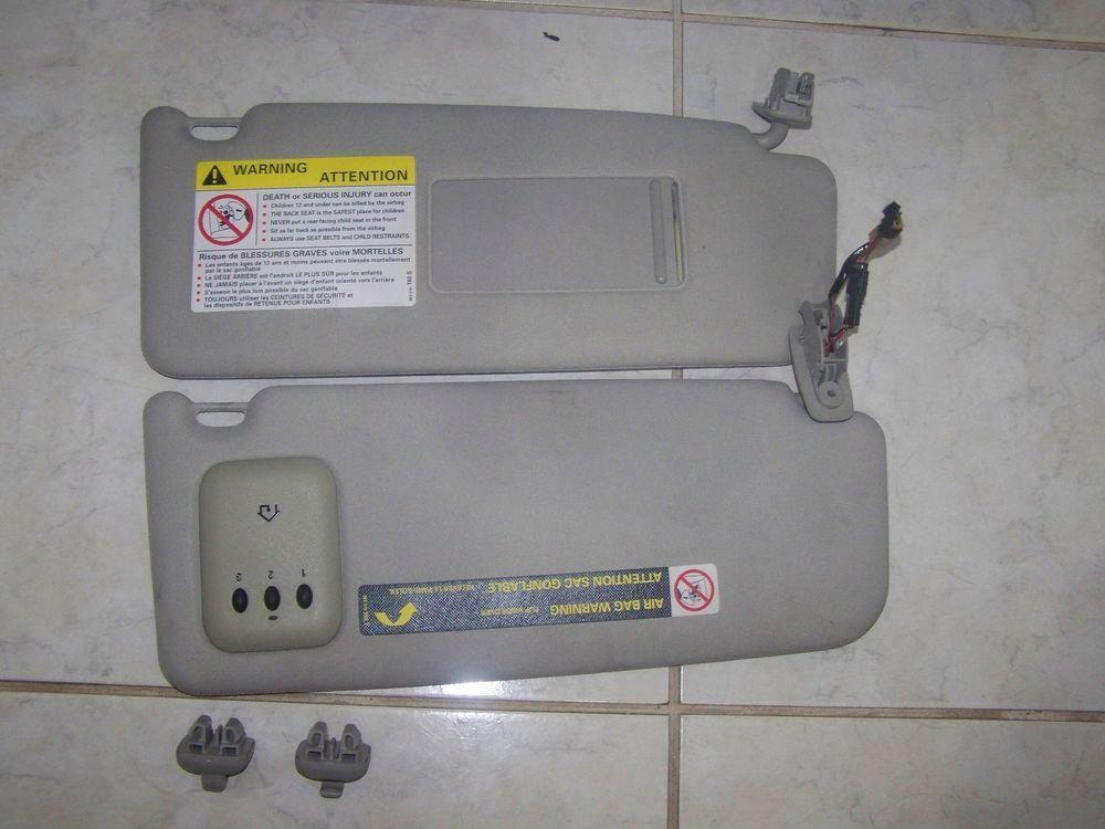 01 05 audi a6 oem sunvisors w homelink garage door opener hook clip brackets ebay motors - Garage door opener in car ...