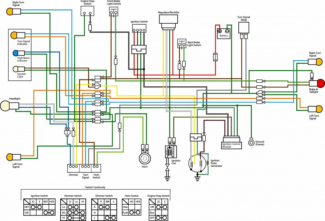 Wiring Diagram Of Motorcycle Honda Xrm 110 Electrical Wiring