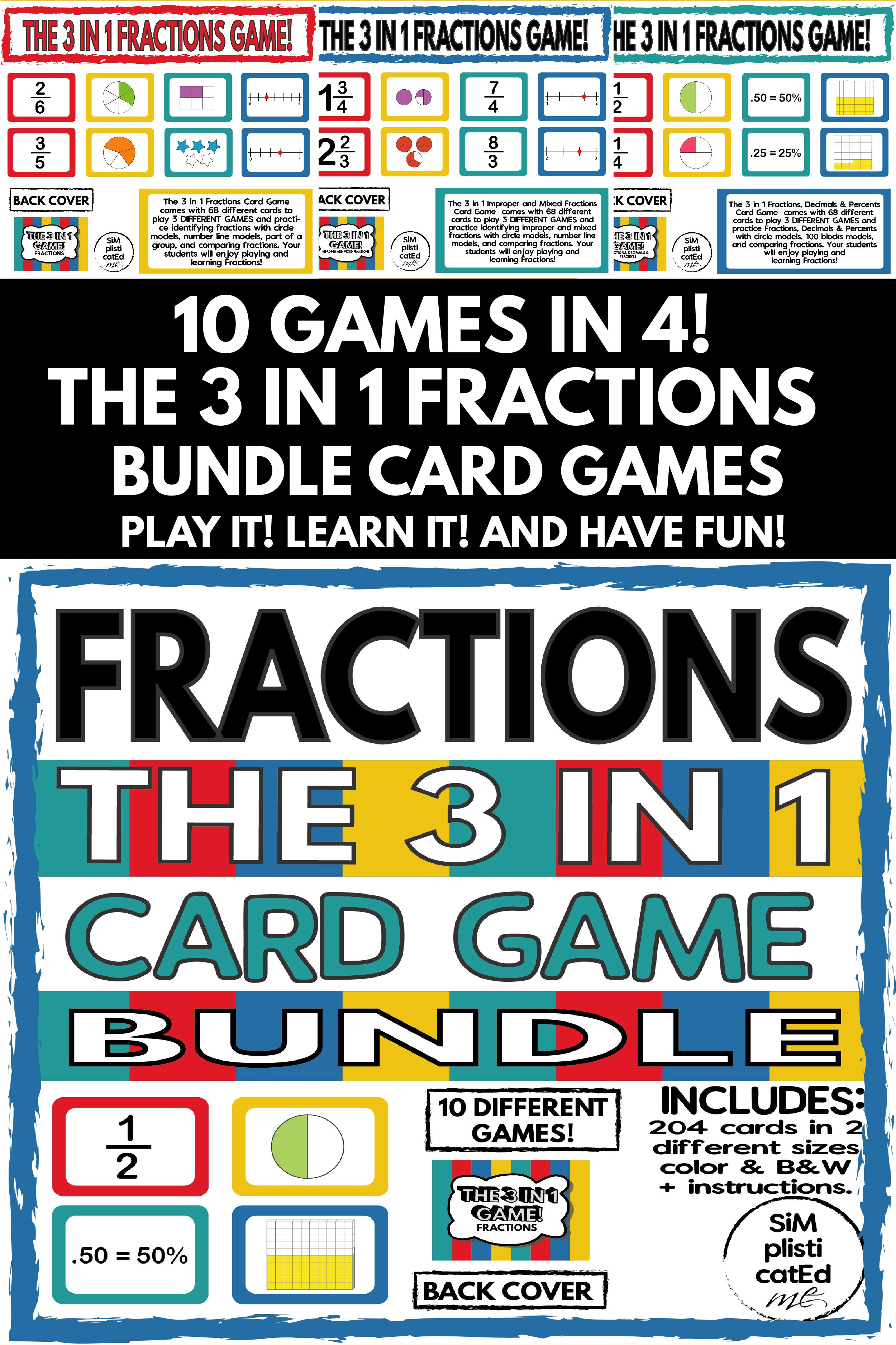 The 3 In 1 Fraction Games Bundle