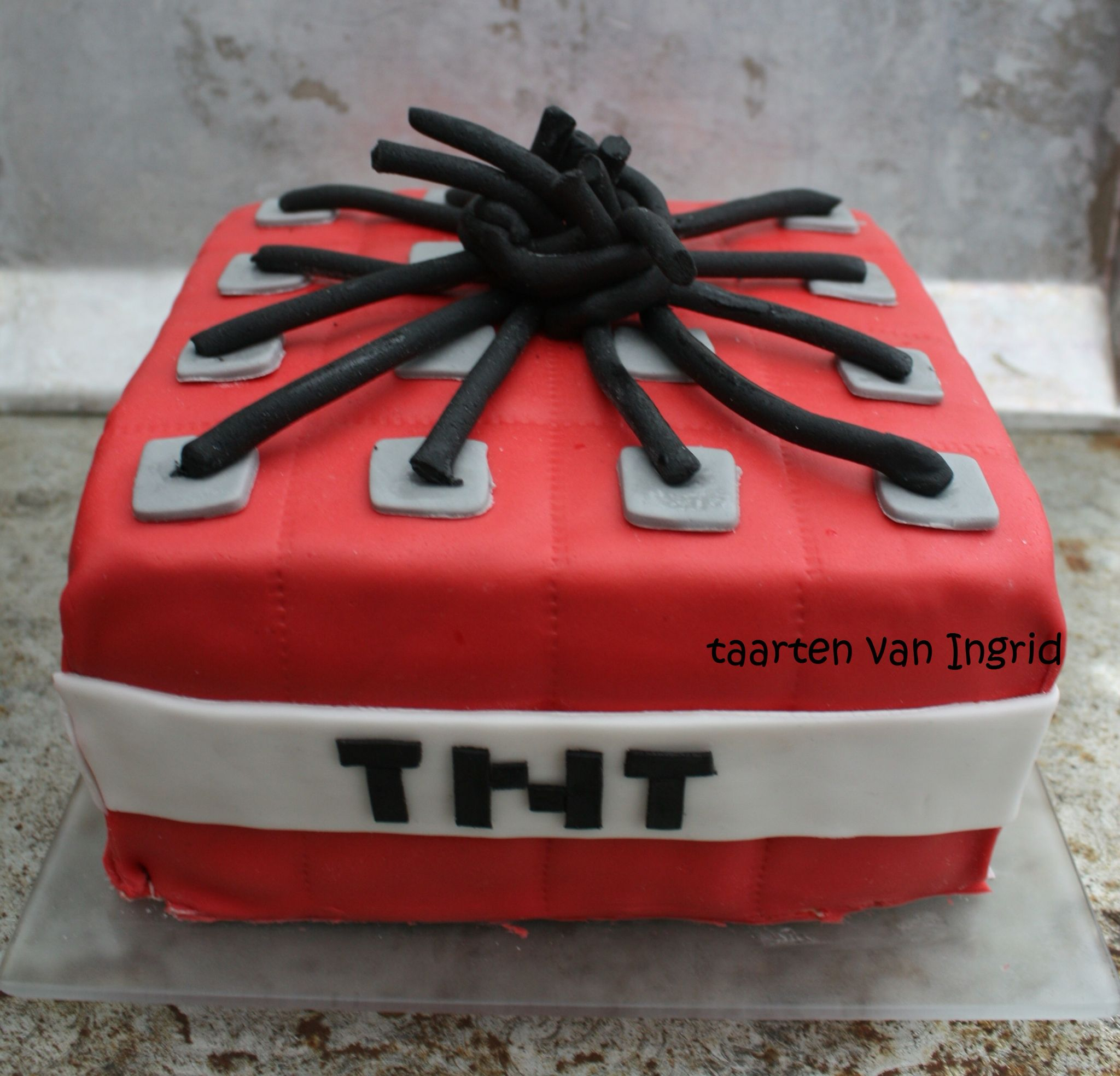 Minecraft Tnt Taart Cake Taart Made By Me Pinterest Cake