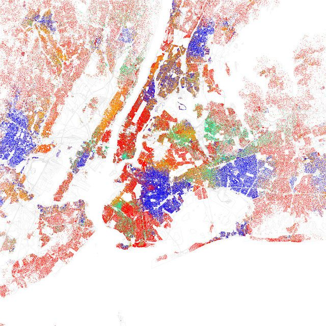 ethnicity in new york maps of racial and ethnic divisions in us cities updated
