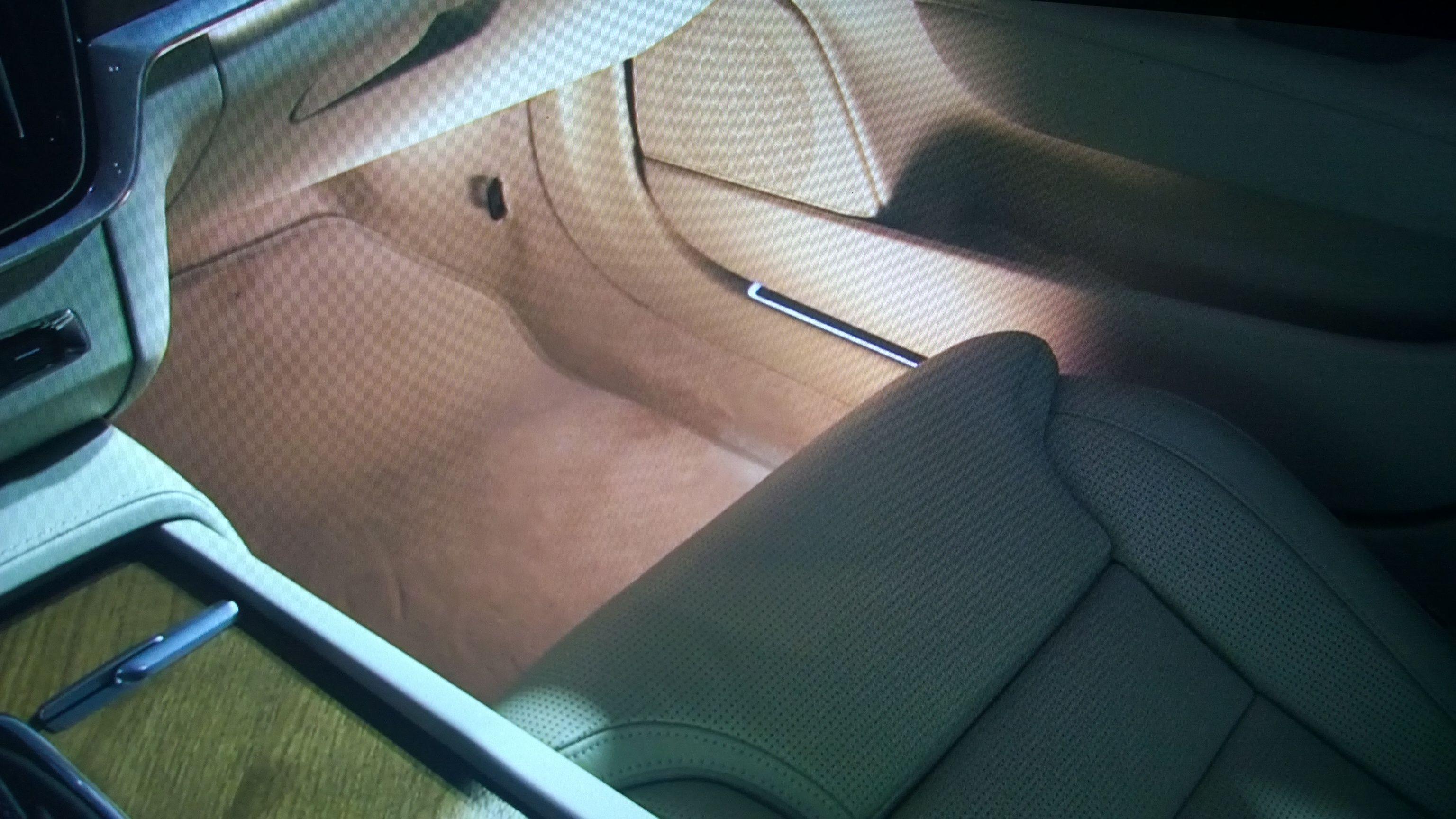 The New VOLVO S90 Interior design- interior ambient lights...