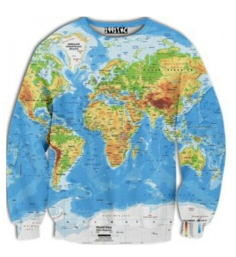 World Map Sweatshirt 1991inc Sweatshirts Sweaters Sweatshirts