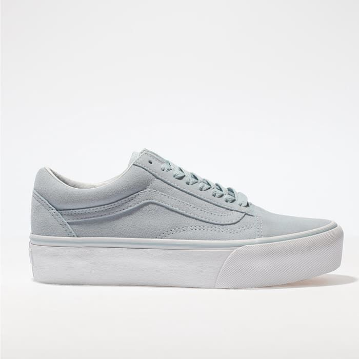 1b496a4976f879 womens pale blue vans old skool platform trainers