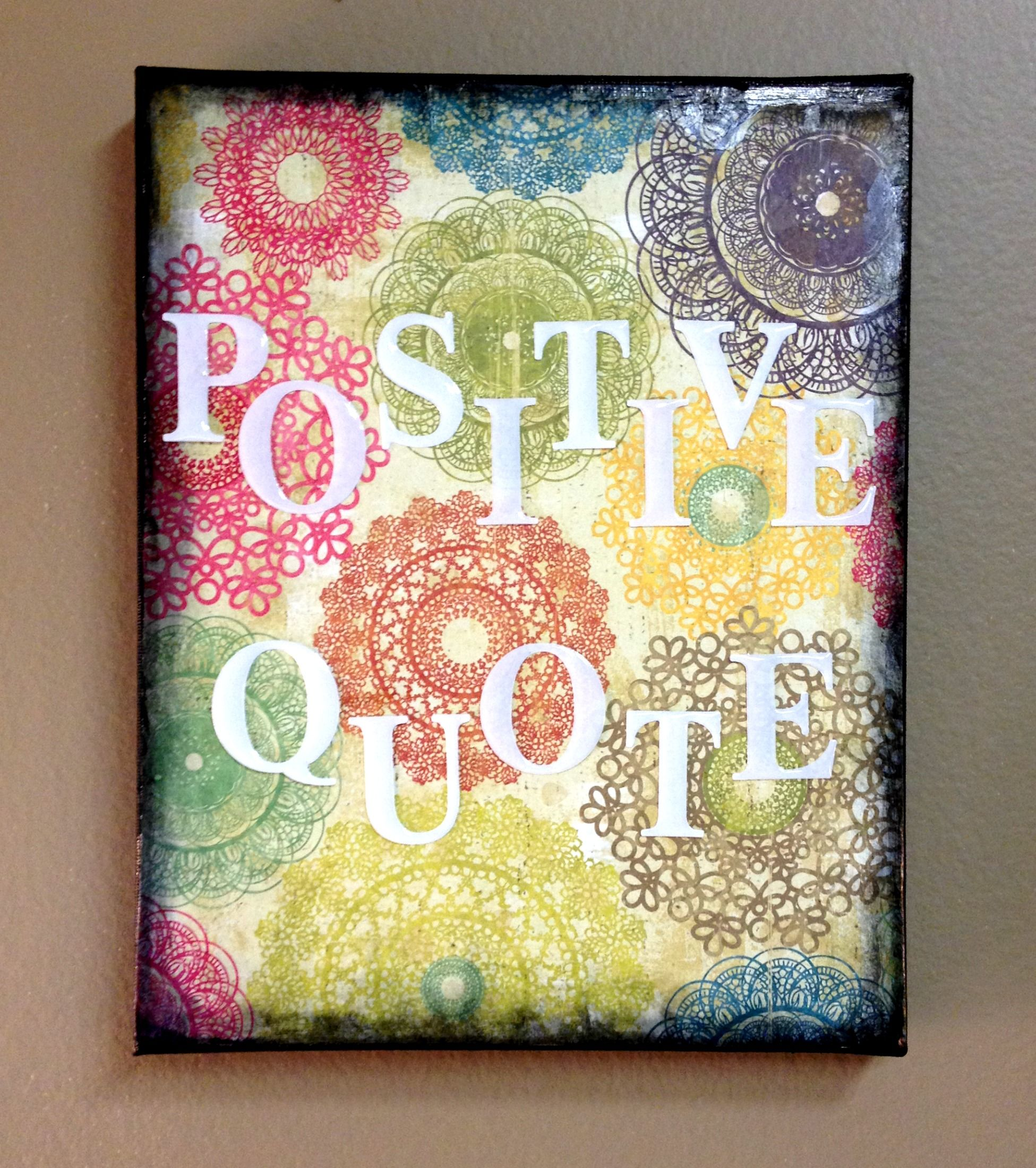 Scrapbook Paper Quote on Canvas | being creative | Pinterest ...